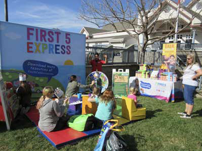 Children have fun at First 5 Express