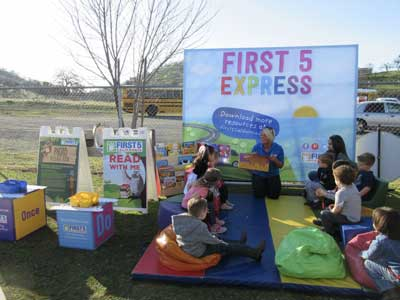 Children enjoy an activity at First 5 Express