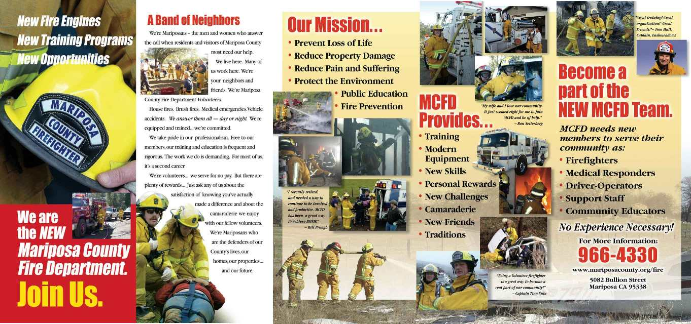 Join Mariposa County Fire Department